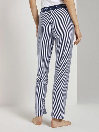 TOM TAILOR Pyjamahose »Gestreifte Pyjamahose«
