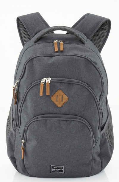 travelite Schulrucksack »Basics Melange, anthrazit«, mit Laptopfach