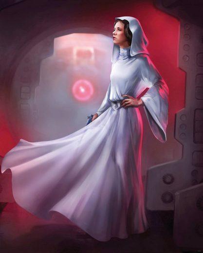 Komar Fototapete »Star Wars Classic Leia«, glatt, mehrfarbig, Weltall, futuristisch, (Packung)