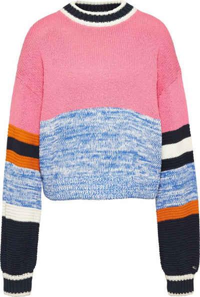 Tommy Jeans Rundhalspullover »TJW Sleeve Colorblock Sweater« im modischem Colorblocking Streifen