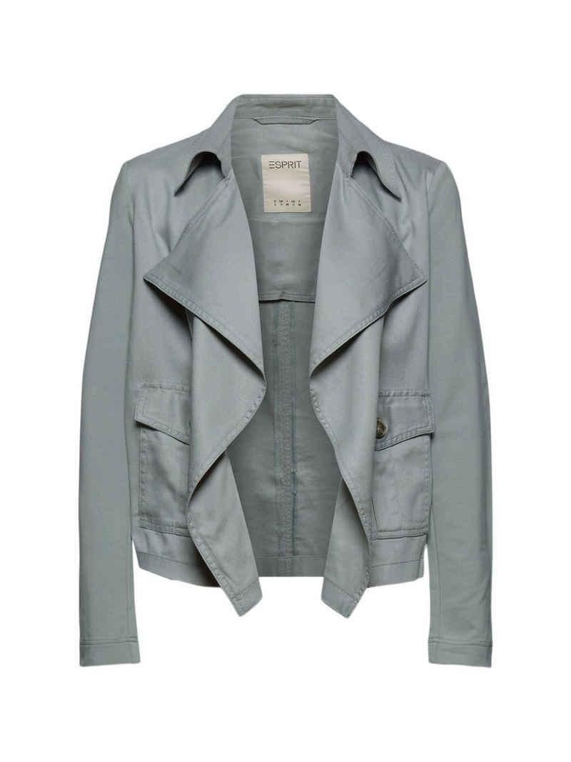 Esprit Strickjacke »TENCEL™ Jacke im Biker-Look« (1-tlg)