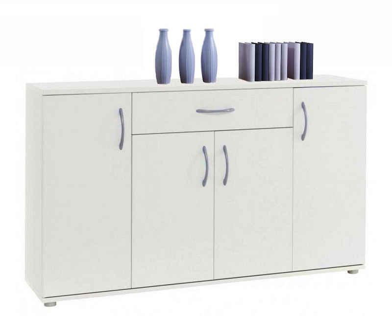 moebel-dich-auf Kommode »LILLY 13« (Sideboard Schrank Mehrzweckschrank Anrichte, in 3 Farben erhältlich), 117 cm breit