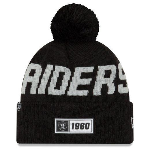 New Era Fleecemütze »Sideline Road Bommel Oakland Raiders«
