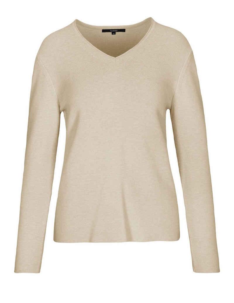 Clarina V-Ausschnitt-Pullover aus 100% Organic Cotton GOTS