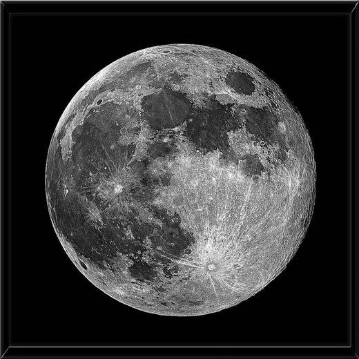 HTI-Line Kunstdruck »Bild Mond«, Wandbild