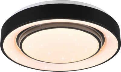 TRIO Leuchten LED Deckenleuchte »Mona«, integrierter Dimmer,Lichtfarbe stufenlos einstellbar,Nachtlicht,Starlight-Effekt,RGBW-Farbwechsler,Memory Funktion,WiZ
