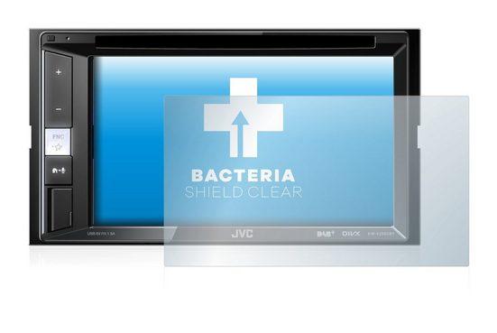 upscreen Schutzfolie »für JVC KW-V255DBT«, Folie Schutzfolie klar antibakteriell