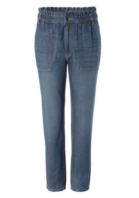 Hosen - Aniston CASUAL Loose fit Jeans high waist mit bequemen Gummizugbund, Paperbag Jeans ›  - Onlineshop OTTO