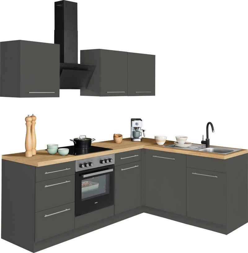 wiho Küchen Winkelküche »Unna«, ohne E-Geräte, Stellbreite 220 x 170 cm