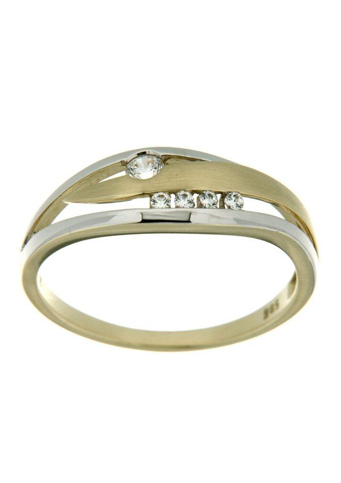firetti Ring im Verlauf mit Zirkonia in goldfarben