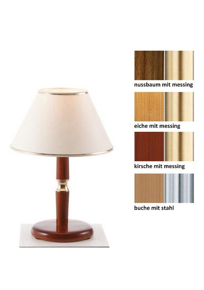 Tischleuchte (1-flg.), in 4 Farben, Laue Leuchten in buchefarben