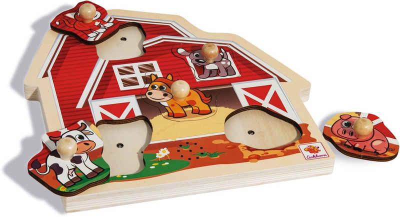 Eichhorn Steckpuzzle, Puzzleteile, mit Sound, FSC®-Holz aus gewissenhaft bewirtschafteten Wäldern