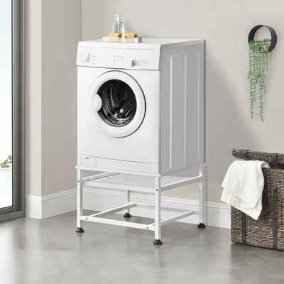 en.casa Waschmaschinenumbauschrank Waschmaschinen-Untergestell Sockel mit ausziehbarer Ablage max. bis 150kg