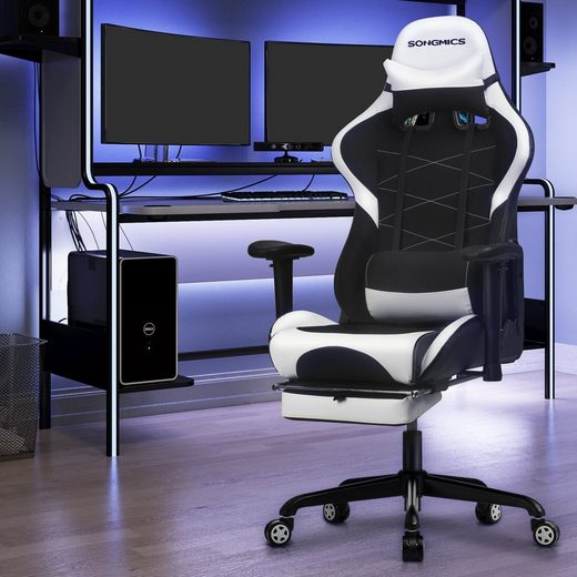 SONGMICS Gaming-Stuhl »RCG52BK RCG52BW RCG52GYV1«, Bürostuhl, Schreibtischstuhl, ergonomisch, atmungsaktives Meshgewebe