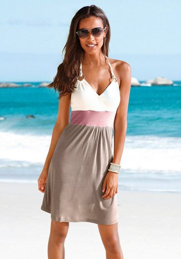 Beach Time Beach Dress With Color-blocking