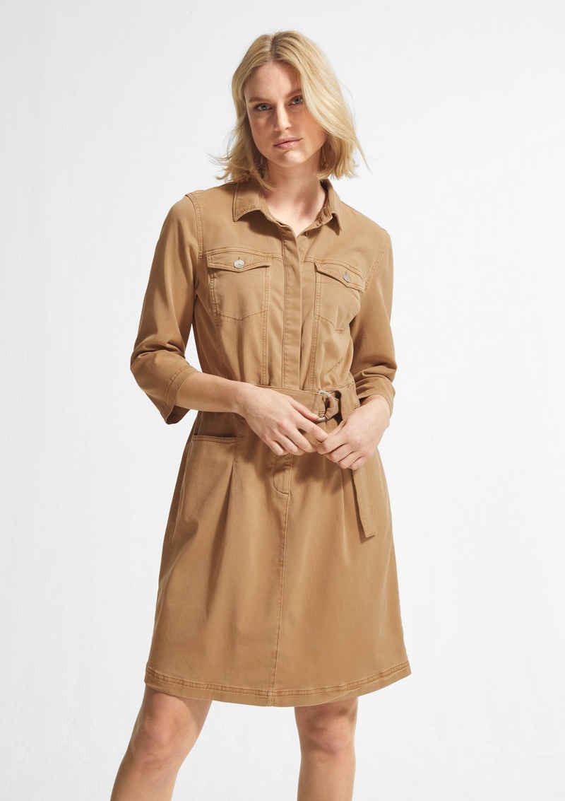 comma casual identity Minikleid »Kleid aus Lyocellmix-Twill« Garment Dye