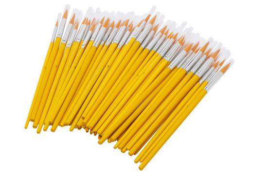 VBS Großhandelspackung Malpinsel »Rundpinsel mit Bambusstiel«, 70 Stück