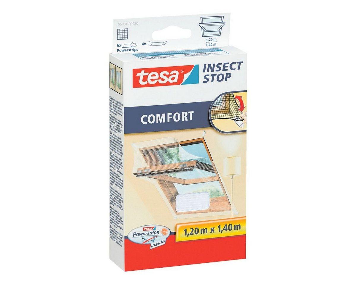 tesa insect stop fliegengitter comfort f r dachfenster 120 x 140 cm preisvergleich. Black Bedroom Furniture Sets. Home Design Ideas