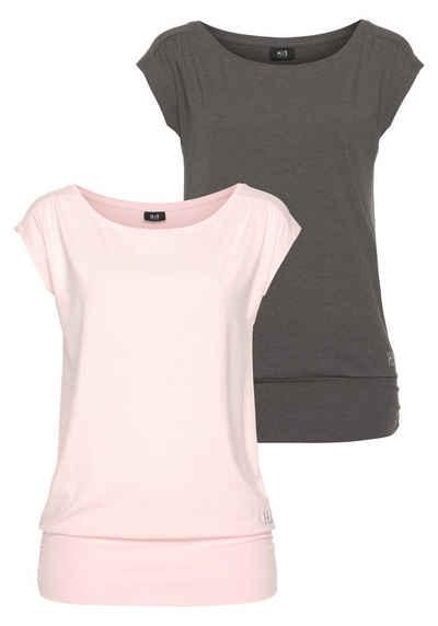 H.I.S T-Shirt »Nachhaltige LENZING™ ECOVERO™ Viskose« (2er-Pack)