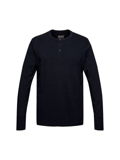 Esprit Langarmshirt »Piqué-Longsleeve, 100% Organic Cotton« (1-tlg)