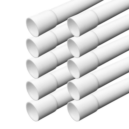 ARLI Kabelkanal »Elektrorohr Kabelrohr M32 Stangenrohr Leerrohr PVC gemufft Installationsrohr 32 mm Rohr 1m Kanal Set – 1254« (10 meter / 10 Kabelrohre, 10-St), Einseitig gemufft