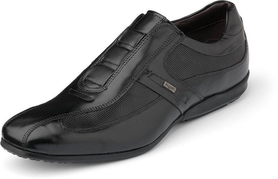 Bugatti Freizeit-Slipper in schwarz