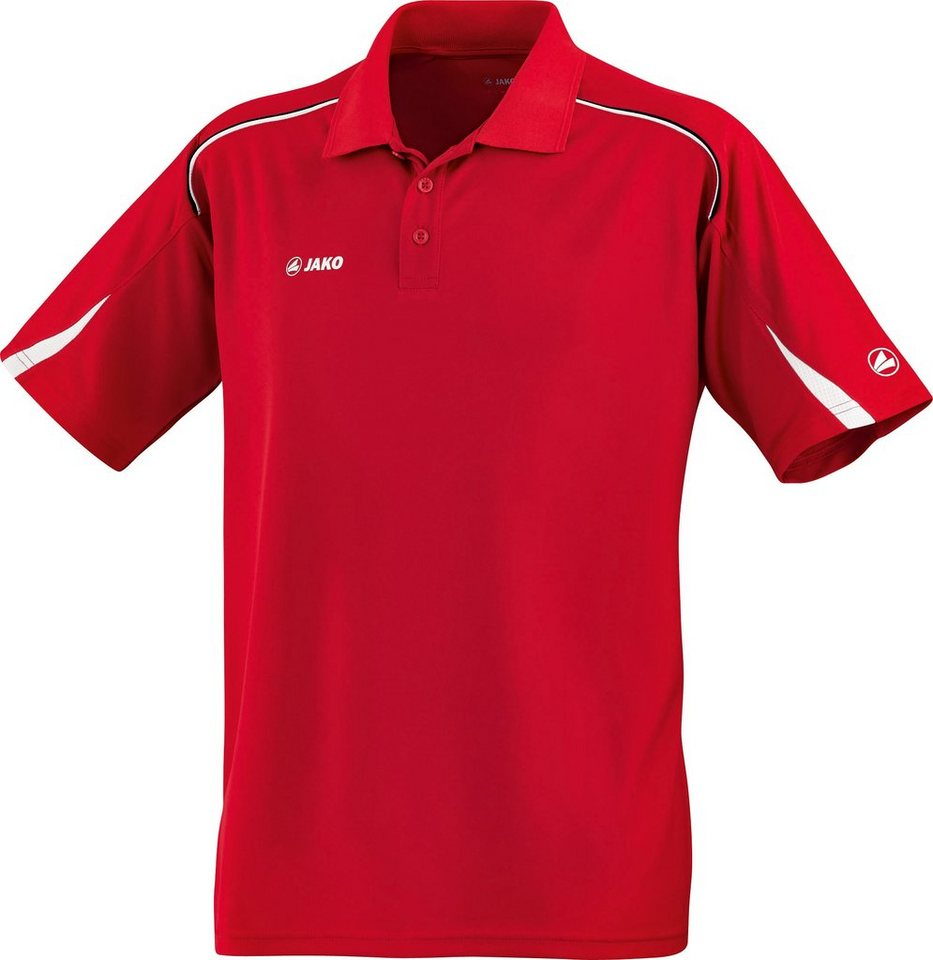 JAKO Polo Passion Damen in rot/weiß