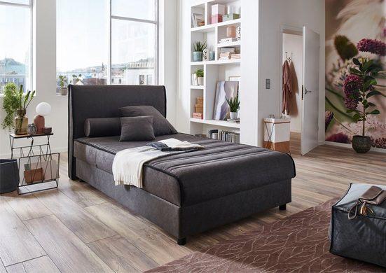 ATLANTIC home collection Boxbett, mit Bettkasten und Zierkissen, multifunktional