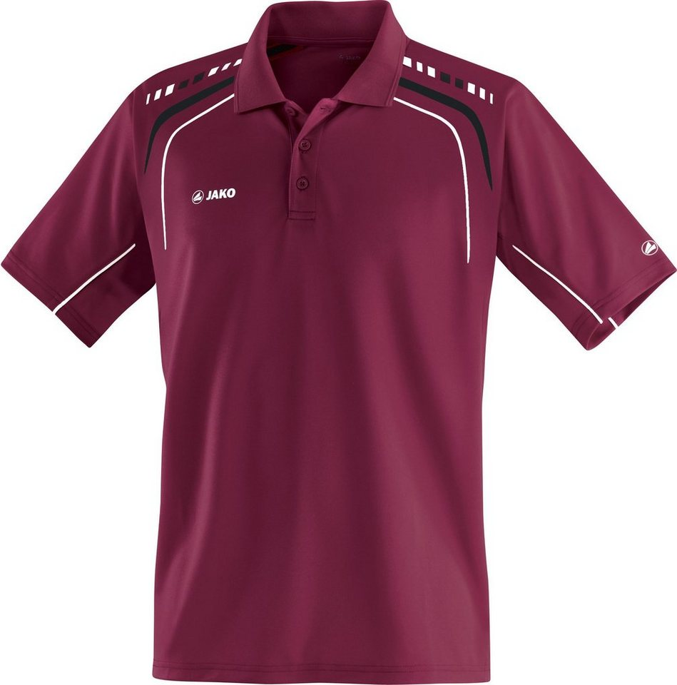 JAKO Polo Champion Kinder in maroon/schwarz