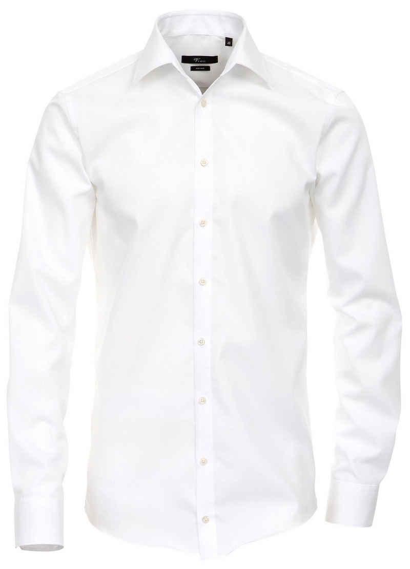 VENTI Langarmhemd »Herren Hemd extra langer Arm 69cm« Businesshemd uni modern fit Kentkragen, weiß HL84, 43