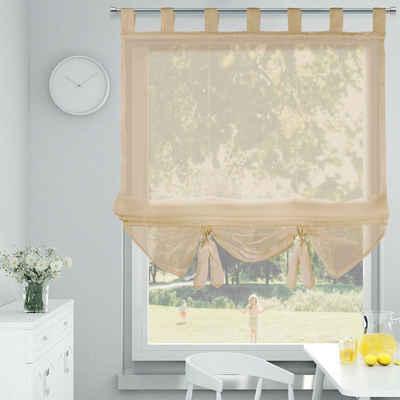 Raffrollo »100% Polyester Rollo, Voile Raffrollo, Raffrollo ohne Bohren, Transparent Vorhang für Fenster, Voile Raffrollo, Raffrollo ohne Bohren, Transparent Vorhang für Fenster,«, i@home