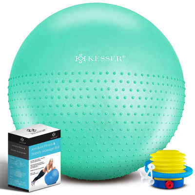KESSER Gymnastikball, Gymnastikball mit Luftpumpe Pumpe - Dicker Yogaball BPA-Frei Massageball