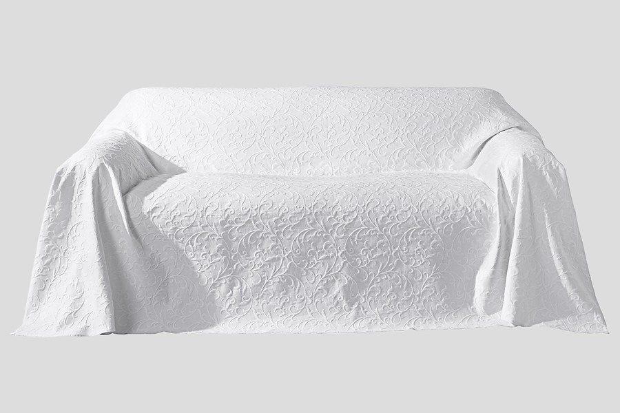 Sesselüberwurf in weiß