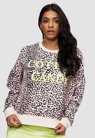 Cotton Candy Sweatshirt »ROSE« mit tollem Leo-Muster