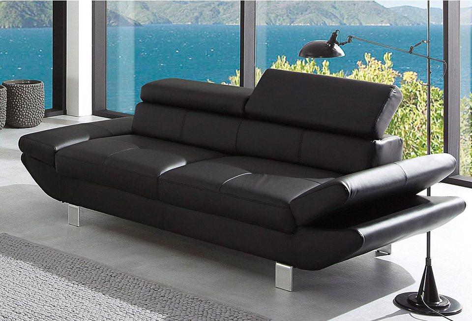 3-Sitzer in schwarz