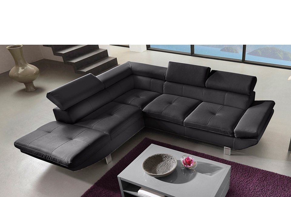 leder ecksofa eckcouch online kaufen otto. Black Bedroom Furniture Sets. Home Design Ideas