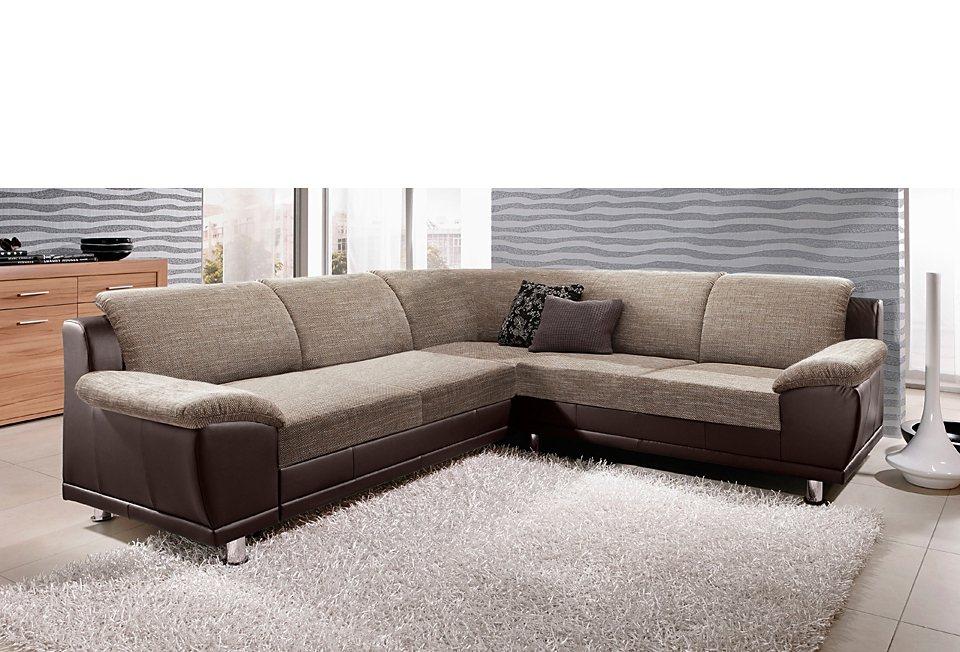 ecksofa langer schenkel wahlweise mit bettfunktion online kaufen otto. Black Bedroom Furniture Sets. Home Design Ideas
