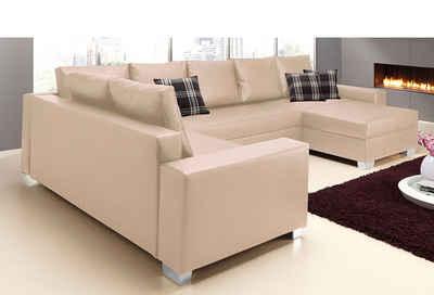 wohnlandschaft beige bestseller shop f r m bel und. Black Bedroom Furniture Sets. Home Design Ideas
