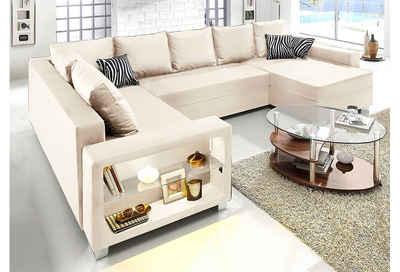 wohnlandschaft wei beige bestseller shop f r m bel und. Black Bedroom Furniture Sets. Home Design Ideas