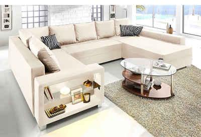 Sofa U Form Beige Latribuna