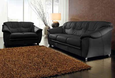 sit&more Polstergarnitur, NaturLEDER® (2-tlg), bestehend aus je einem 2- und 3-Sitzer, inklusive Federkern