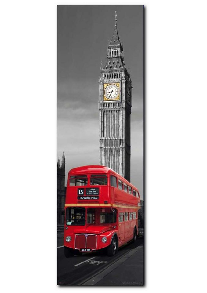 Wandbild, Premium Picture, »London Red Bus«, Größe 30 x 90 cm