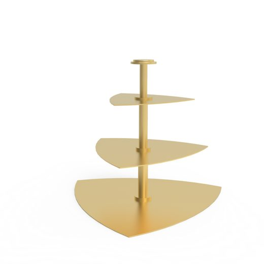 Blue Chilli Design Etagere »3-Stöckig - Design: Spade in goldfarben«, Edelstahl, (1-tlg., 3 Teller), 3 stöckig
