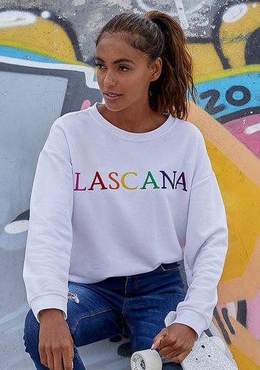 LASCANA Sweatshirt mit Logo-Stickerei