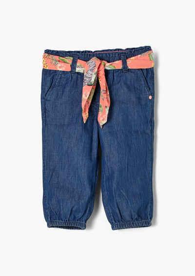 s.Oliver 5-Pocket-Jeans »Capri-Jeans mit Stoffgürtel«