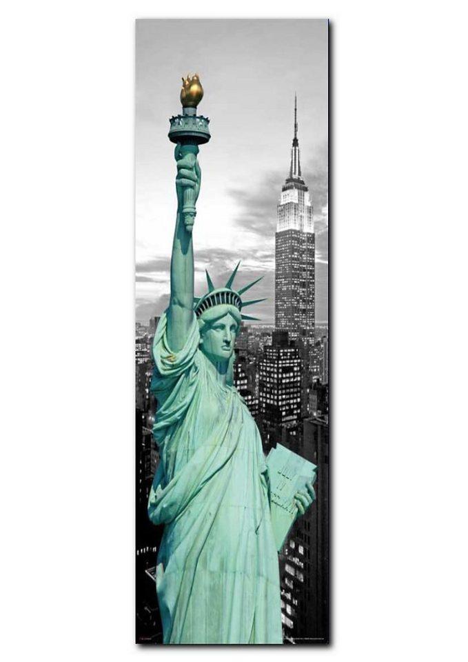 Wandbild, Premium Picture, »New York Freiheitsstatue«, Größe 30 x 90 cm