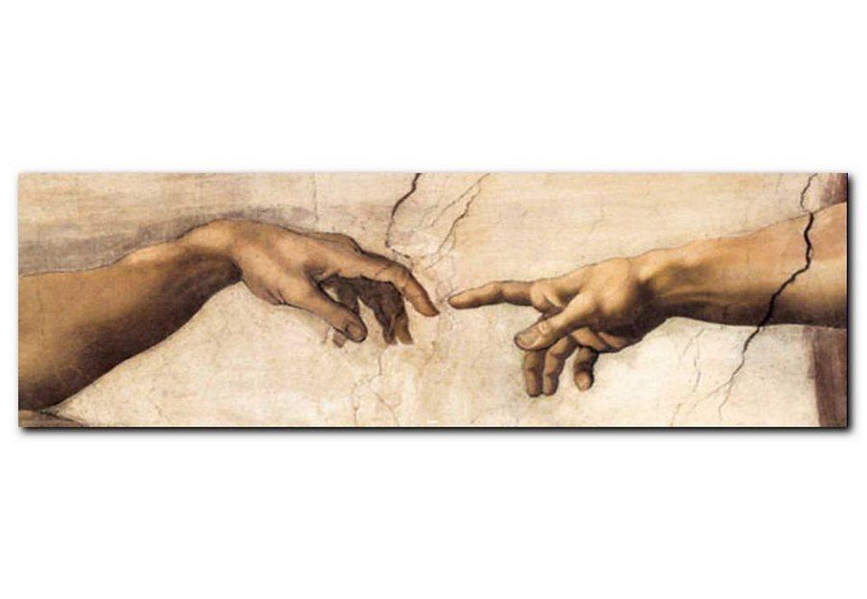Wandbild, Premium Picture, »Schöpfung«, Größe 90 x 30 cm in braun