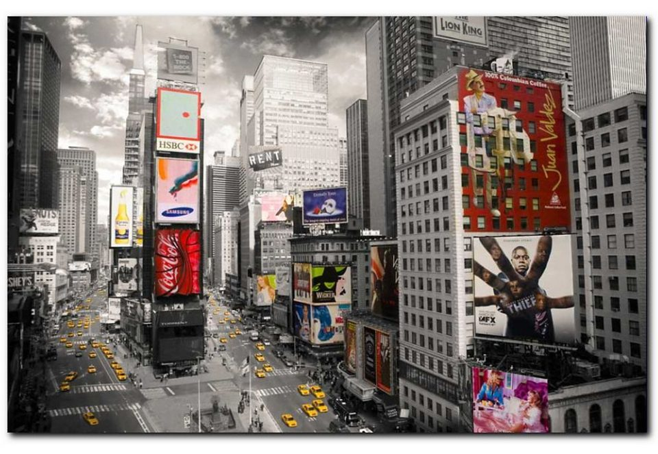 Wandbild, Premium Picture, »Times Square«, 90/60 cm