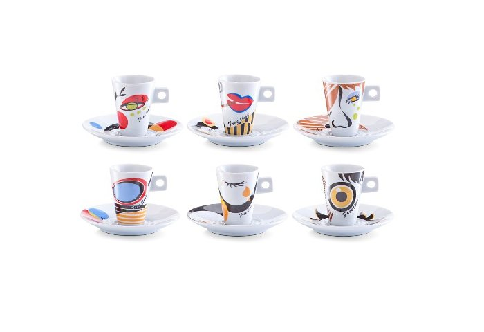 Espresso-Set »Faces« (12-tlg.), Zeller in bunt