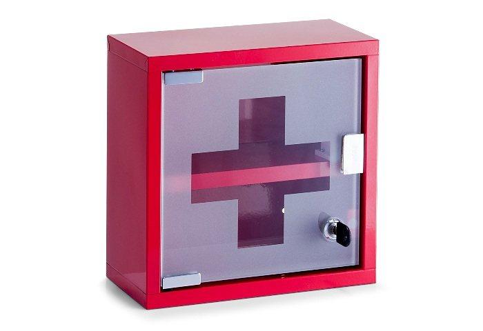 Medizinschrank, Home affaire, Höhe 25 cm in rot